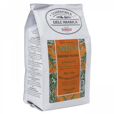 Кофе в зернах Compagnia Dell Arabica India Monsooned Malabar 250 гр