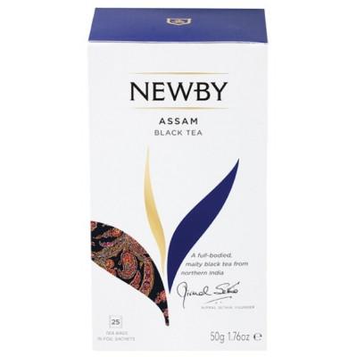 Черный чай Newby Assam 25 пакетиков 50 г