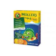 Меллер (Moller) Omega-3 рыбки с апельсиново-лимонным вкусом, 36 штук, Норвегия