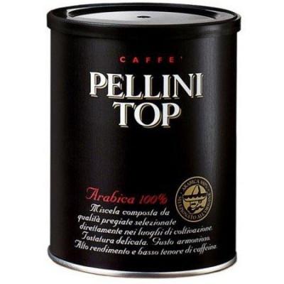Молотый кофе Pellini Top 250 гр 100% Арабика жестяная банка
